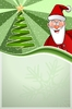 Christmas Poster 02: Christmas green Poster with Santa Claus and christmas tree