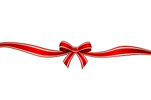 Christmas Ribbon 2: Christmas red ribbon and bow on the white background