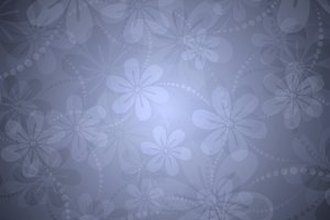 Delicate Floral Background 1: Delicate floral background with additional elements such as hearts, stars, leaves, dots