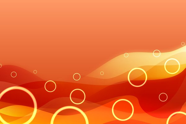 Orange Background: Warm waves on an orange background