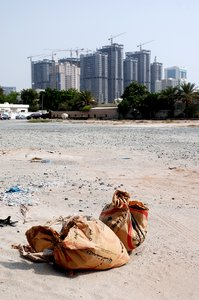 cement: site in dubai where buildings grow from the desert at incredible rates