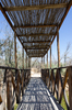 Wooden Bridge: Pedestrian bridge leading to the site where Jesus Christ was baptised in the Jordan River