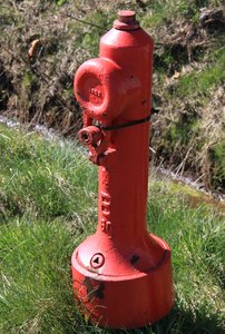 Hydrant: Hydrant for connecting tubes to fight a possible fire