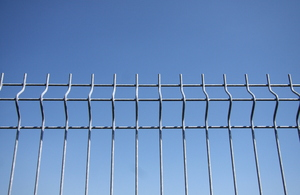 Security fence: Metal security fence