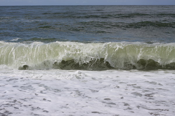Breaking wave: Wave rolling to the shore
