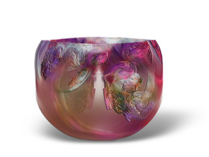 Hand made glass bowl: Glass bowl graphic