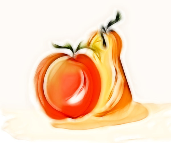 Apple 'n' Pear: Sketch of an apple and pear