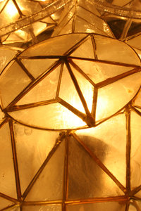 christmas parol: a traditional filipino christmas star lantern made primarily with mother of pearl... known locally as the