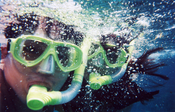 underwater 1: shot using a kodak water and sport camera. simple camera, reasonable results! me and da wife on holiday...