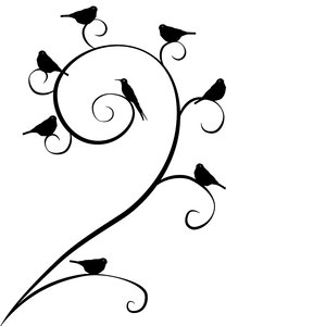 Swirls&Birds II: a series of three designs with different combinations of birds and swirls