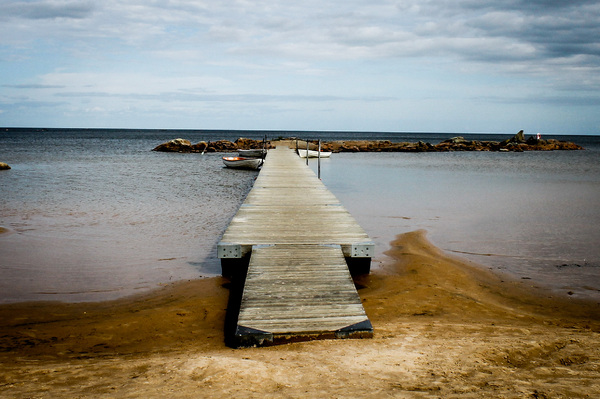 To the horizon: Pier at Lake Vänern, Sweden
