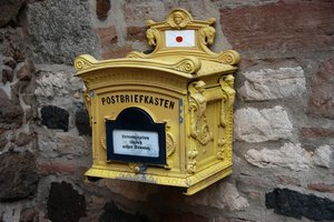 German post box: German wall box for outgoing mail