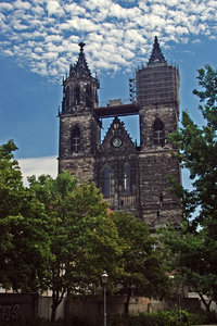 Gothic cathedral in Magdeburg : Medieval church in Germany-------------------------- ---Please, send me an e-mail if you want to use my photos.-------------------------- ---I like to see what becomes of one of my photos. Please send me by e-mail copy of final work or link to web site wi
