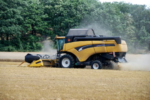 Combine harvester by the work : Harvest in Germany