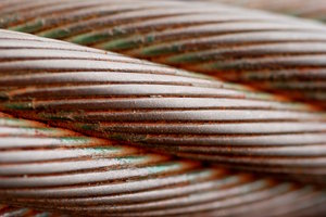 Heavy and rusty tow steel line: Close-up of steel line from old soviet tank equipment