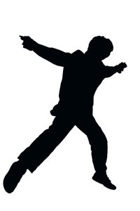 Dancer shape: Dancing boy silhouette