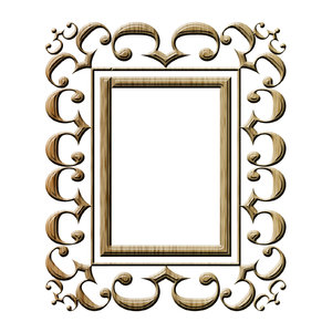 Baroque frame 1: Stylised picture frame