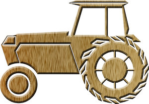 Tractor pictogram 1: A tractor is a vehicle specifically designed to deliver a high tractive effort at slow speeds, for the purposes of hauling a trailer or machinery used in agriculture or construction.