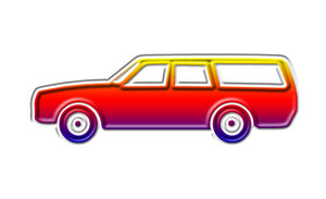 A station wagon pictogram 1: A estate car (or just estate in British usage), is a passenger automobile with a body style similar to a sedan (saloon in British usage) but with the roofline following an extended rear cargo area.