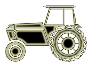 Tractor pictogram 5: A tractor is a vehicle specifically designed to deliver a high tractive effort at slow speeds, for the purposes of hauling a trailer or machinery used in agriculture or construction.