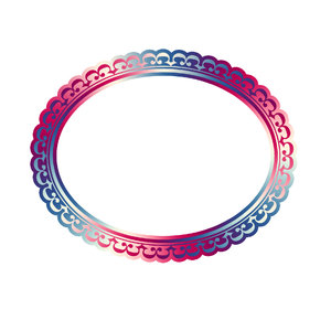 Horizontal oval frame 5: Decorative oval frame for painting or photo