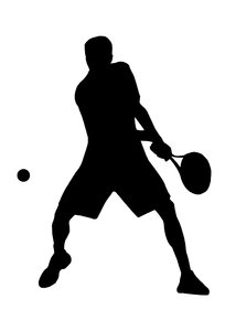 Tennis 1: Silhouette of player