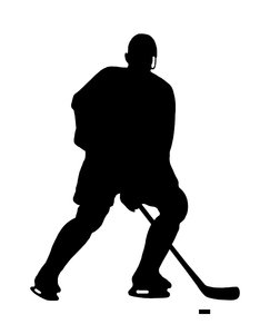 Hockey 2: Silhouette of player