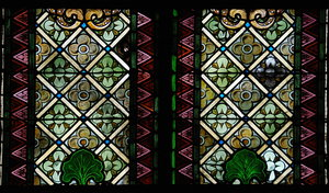Stained glass pattern 3: Church window with stained glass