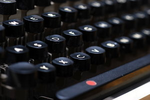 Typewriter 4: A typewriter is a mechanical or electromechanical device with a set of