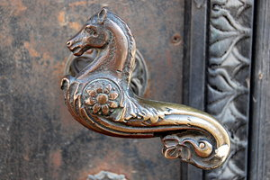 Door handle: Decorated door handle in Quedlinburg, Germany