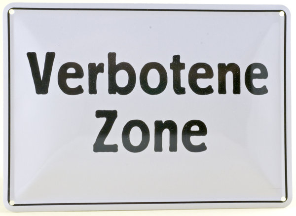 Forbidden zone: Old german plate from communist East Germany (DDR)