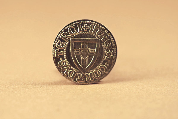 Part of old treasure: Medieval coin from teutonic order state
