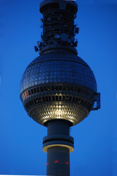 TV tower in Berlin 2: TV Tower with silver sphere in East Berlin
