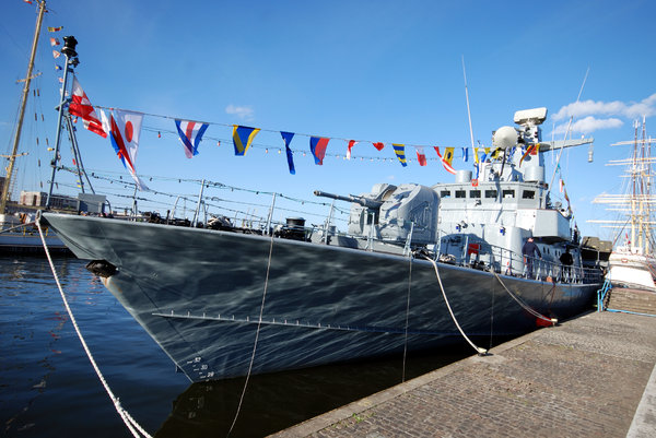 Modern corvette under the flag: Small, maneuverable, lightly armed polish warship PIORUN