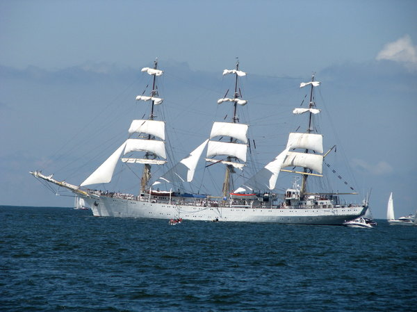 The Tall Ships Races 2009 in P: Sails on Baltic Sea near Gdynia harbor