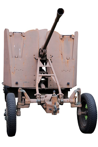 Anti-aircraft artillery: Isolated cannon