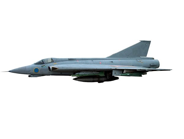 Swedish fighter jet  2: Military plane J 35 DRAKEN