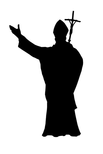 A silhouette of the pope 2: John Paul II