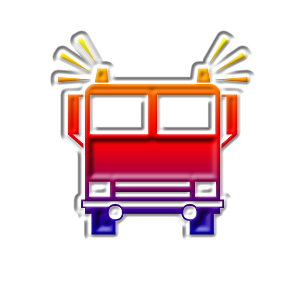 Firefighters pictogram 3: Fire truck icon