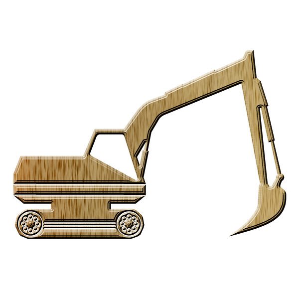 Excavator pictogram 1: Digger icon