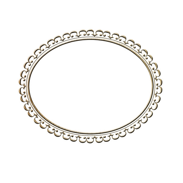 Horizontal oval frame 1: Decorative oval frame for painting or photo