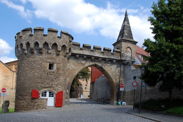 Krummes Tor in Merseburg: Gothic town gate called Krummes Tor in Merseburg, Germany