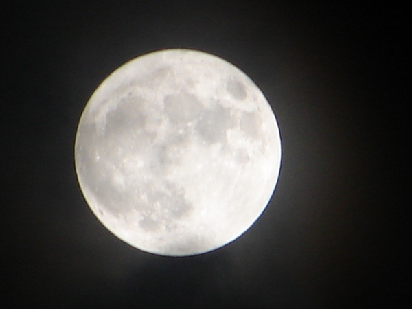 The Rising: A full moon's night at home in Bangalore, India.
