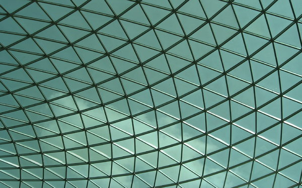 Glass Dome: Glass dome of the British Museum, London