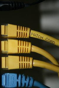 Networking: Network cables into router & switch