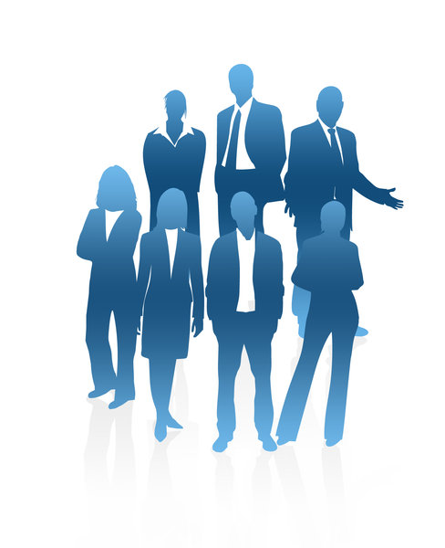 silhouette business people: Thank:http://www.business-oppor ..
