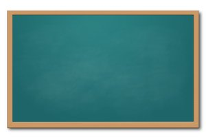 Green chalkboard: green chalkboard isolated on white.  lots of space for your text.