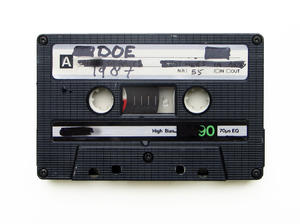 music cassette: to celebrate and memorize the end of the music cassette, I publish this picture.