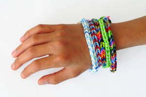 friendships bracelets: hand with friendships bands
