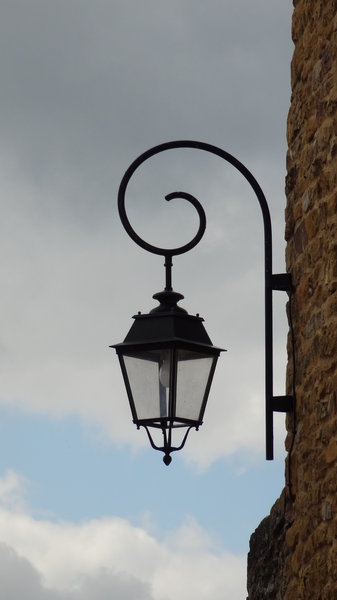 street light: old street light somewhere in France